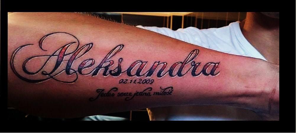 Tatuaż Napis Przedramie Pracownia Tatuażu Artystycznego
