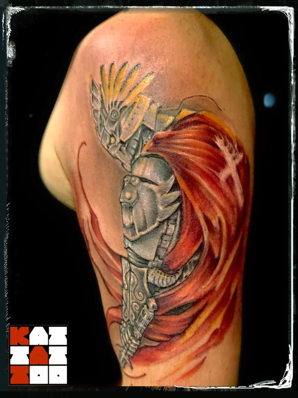 rycerz tatuaż