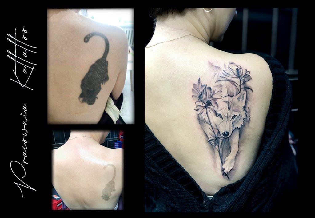 zakrycie starego tatuażu