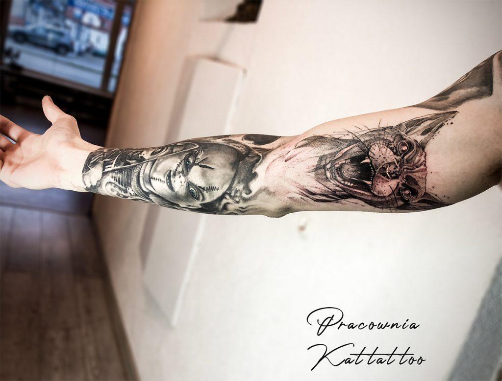 tatuaż początek rękawa
