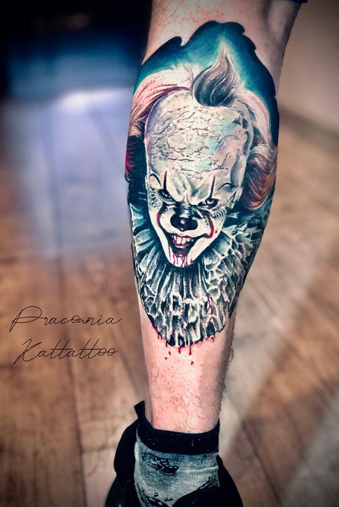 klaun tatuaż