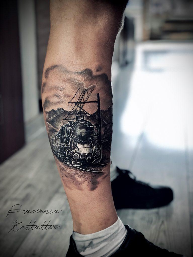 lokomotywa tatuaż
